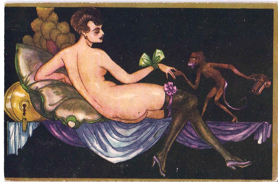 dark with monkey